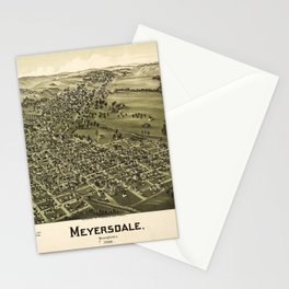 Aerial View of Meyersdale, Pennsylvania (1900) Stationery Cards