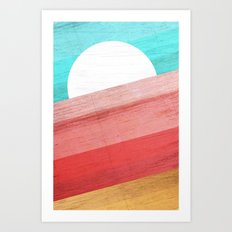 Warm Waves Art Print