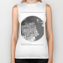 San Francisco Map Universe Biker Tank