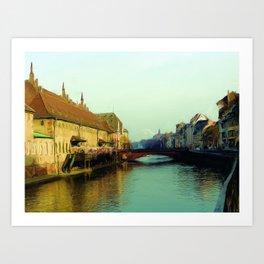 Strasbourg canal Art Print