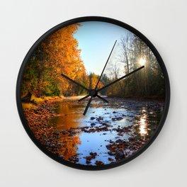 Salmon Sanctuary - Adams River BC, Canada Wall Clock