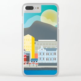 Cape Town, South Africa - Skyline Illustration by Loose Petals Clear iPhone Case