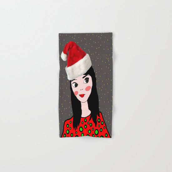 Christmas with you | Kids Painting | Only Love by Elisavet Hand & Bath Towel