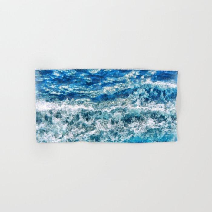 Sea foam waves Hand & Bath Towel