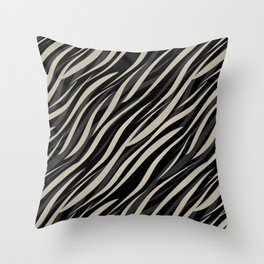 Tiger abstract striped pattern . Throw Pillow