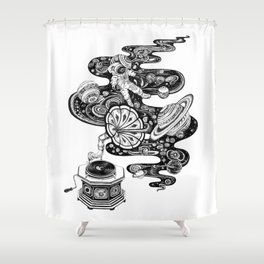 Cosmos Space Music Shower Curtain