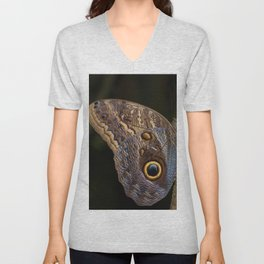 Owl butterfly in Costa Rica - Tropical moth Unisex V-Neck