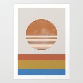 Sunshine, Modern Abstract Landscape, Sun Art Print