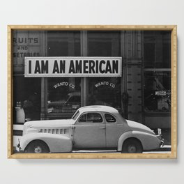I Am An American Photo Dorothea Lange Serving Tray