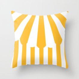 yellow tent Throw Pillow
