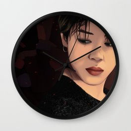 BTS JIMIN FAKE LOVE FANART Wall Clock