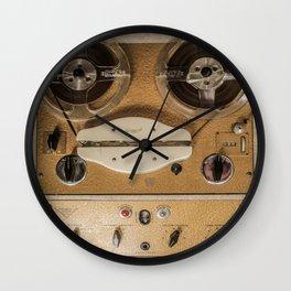 Vintage tape sound recorder reel to reel Wall Clock