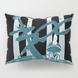 300 Blue and Black Pillow Sham