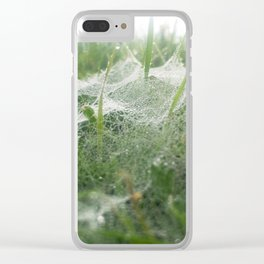 Cobweb Clear iPhone Case