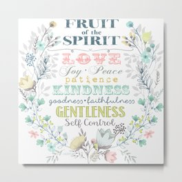 Fruit of the Spirit (bright pastels) Metal Print