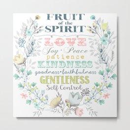 Fruit of the Spirit (bright pastels) Metal Print