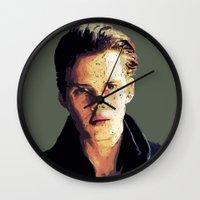 bill Wall Clocks featuring Bill by Aubrey Meeks