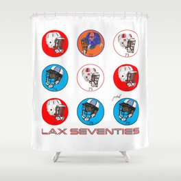 SQUARE--Lax Seventies Shower Curtain