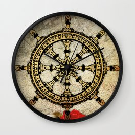 A Ship In Harbor Wall Clock