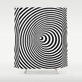 Vortex, optical illusion black and white Shower Curtain
