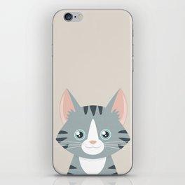 Grey Tabby Cat iPhone Skin