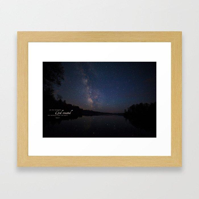 Milky Way over the Lake Framed Art Print