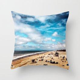 Manhattan Beach Summer Throw Pillow