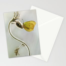 Spring impression with yellow butterfly Stationery Cards
