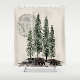 Full Moon Rising Shower Curtain