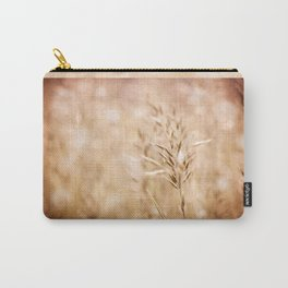 Sepia toned ripe grass inflorescence Carry-All Pouch