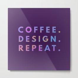 Coffee Design Repeat Metal Print