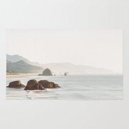 overlooking cannon beach Rug