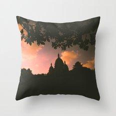 Sacre-Coeur, Paris. Throw Pillow