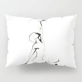 India Ink Dance Drawing Pillow Sham
