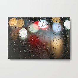 rain lights Metal Print
