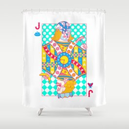 """Jack Shit """"LOST TIME"""" Shower Curtain"""
