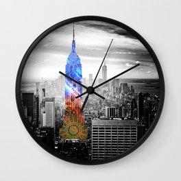 Funky Landmark - NY Wall Clock