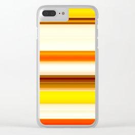 summer sunshine striped pattern Clear iPhone Case