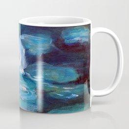 Blue Water Lilies Coffee Mug