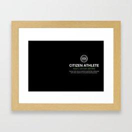 Citizen Athlete Framed Art Print