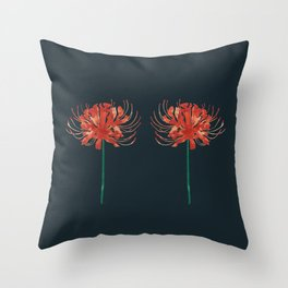 Red Spider Lily Throw Pillow