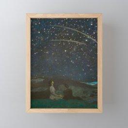 Shooting Stars, Summer Night by the Sea, Watch Hill, Rhode Island landscape by Franz Von Stuck Framed Mini Art Print
