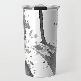 Minimal Brushstrokes Abstract Painting Travel Mug