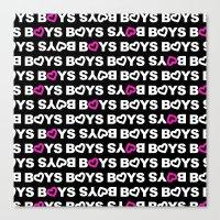 boys Canvas Prints featuring Boys by aisha richardson