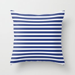 Simply blue and white striped Throw Pillow