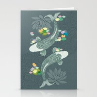 koi Stationery Cards featuring Koi by Amanda Dilworth