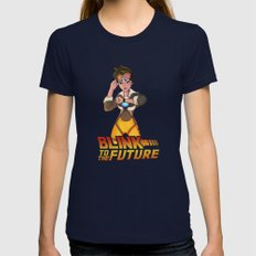 Blink to the Future Womens Fitted Tee Navy SMALL
