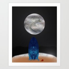 The Moon after my Death Art Print