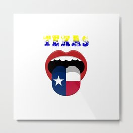Electoral vote of texas abstract mouth Metal Print