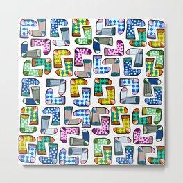 Colorful socks pattern Metal Print